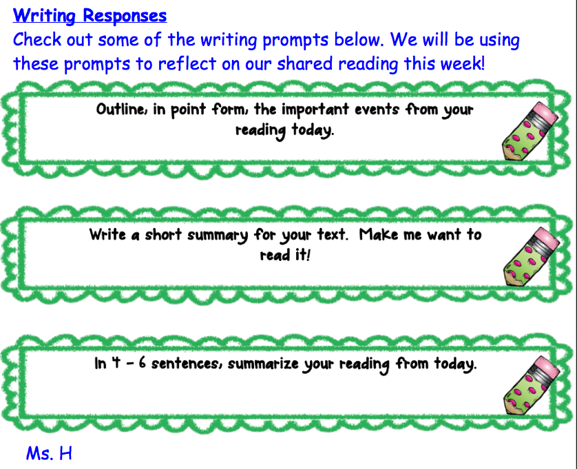 Shared Reading: Sequence Text Pattern | Grade 4/5